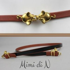 VINTAGE 70s MIMI DI N MICE CLASPS REVERSIBLE BELT